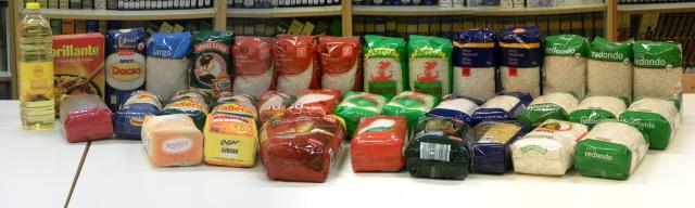 Alimentos recogidos por los/as alumnos/as de religión