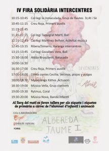 programa actes iv fira intercentres xativa